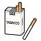 たばこテーブル画像