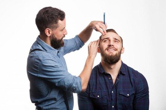 男性美容師の画像