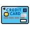 クレジットカードのテーブル画像