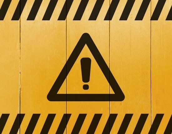 危険、警告を表す画像